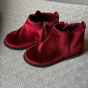 GAP Shoes - GAP || Faux Velvet Ankle Booties